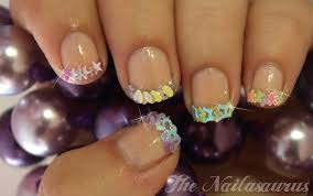 nail designs with gems how you can do it at home pictures