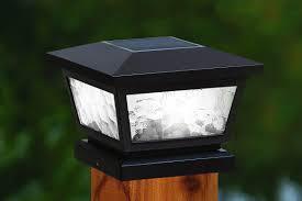 led l post light solar post cap lights hommum com