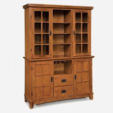 shop home styles arts and crafts cottage oak china cabinet with
