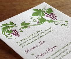 Winery Wedding Invitations New Wedding Invitation Design St Helena Letterpress Wine Country