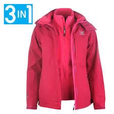 karrimor womens 3in1 jacket coat top la s hooded fleece mesh