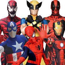 lycra complete superhero fancy dresses for men ebay