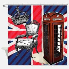 Fashion Shower Curtain London Phone Booth Shower Curtains Cafepress