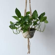 hanging planter basket new arrival linen rope plant holder hanging planter basket holder