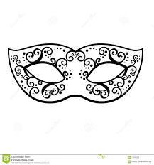 black and white mardi gras masks vector back venetian carnival mardi gras party mask vector illu