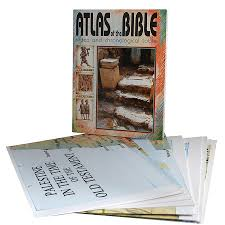 Wall Maps Carta U0027s Illustrated Wall Maps Of The Bible 12 Large Maps Atlas