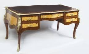 bureau louis xv bombe louis xv style bureau plat writing table desk ref no 01715
