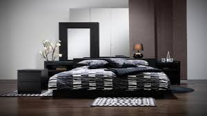 Black Wood Bedroom Furniture Sets Black Bed Ikea Zamp Co
