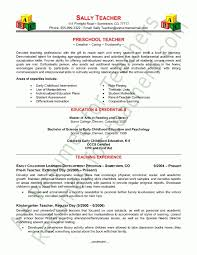 preschool resume template best resume collection