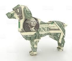 new year dollar bill dollar dog money origami symbol of new year 2018 made from