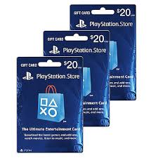 ps4 gift card sony playstation network us 20x3 60 usd prepaid gift card psp psn