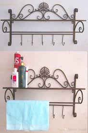 Wrought Iron Bathroom Shelves Continental Shelf Toilet Wall Hook Wrought Iron Bathroom Shelf On