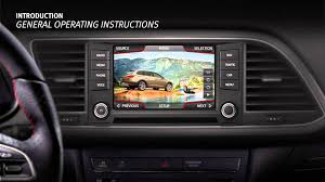 seat introduction tutorial infotainment system overview seat ibiza