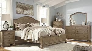 trishley light brown panel bedroom set