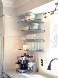 where to buy glass shelves for kitchen cabinets inspiration pottery barn me glass shelves glass