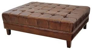 Ottoman Leather Coffee Table Coffee Tables Ideas Best Brown Leather Coffee Table Ottoman