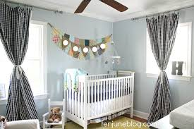 Blue And White Gingham Curtains Crisp And Clean Little Boy U0027s Eclectic Blue And Yellow Nursery