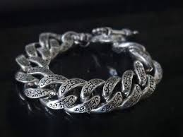 sterling silver engravable jewelry of thorns engraved 925 sterling silver bracelet for men