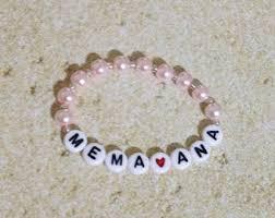 beaded name bracelets beaded name bracelet etsy