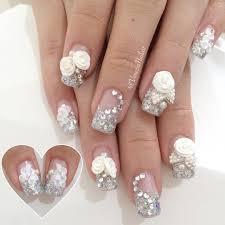 nail art simple bridal nail art design youtube wedding ideas easy