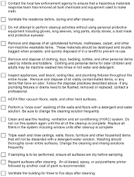 How To Remove Water Stains From Painted Walls Methamphetamine Laboratories Fact Sheet