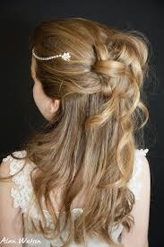 flower girl hairstyles uk rhinestone browband first holy communion flower girl hair