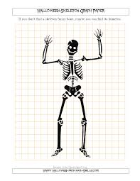 Halloween Skeleton Halloween Skeleton 1 Cm Graph Paper