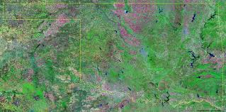 Satellite View Map Oklahoma Satellite Images Landsat Color Image
