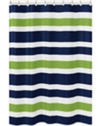 Kids Bathroom Shower Curtain Deal Alert Jojo Designs Navy Blue And Lime Green Stripe Kids
