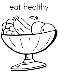 eat healthy fruits colouring page colouring tube