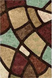 Brown Area Rugs Buy Orian Rugs Shag Geometric Circle Bloom Multi Brown Area Rug