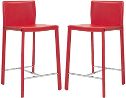 Leather Bar Stools With Back Furniture Square Red Leather Bar Stools With Back O Red Metal