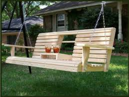 6 feet ft flip cup holder console cypress lumber roll back porch swing