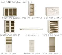 Horizontal Storage Cabinet Build Your Own Sutton Modular Cabinets Pottery Barn