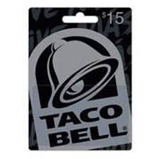 15 gift cards taco bell 15 gift card walmart