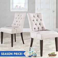 Tufted Living Room Chair by Dining Chairs Set Of 2 Modern Room Chair Elegant Design Tufted