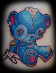 blue teddy bear tattoo design tattoos book 65 000 tattoos designs