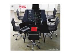 Glass Top Conference Table Black Glass Writeable Top 8 X4 Conference Table With Black Base