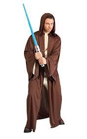 brown costume rubie s costume wars hooded jedi robe