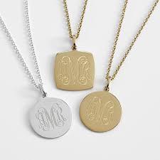 monogram charm embellished monogram charm necklace