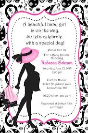 s shower invitations pink and black baby shower invitations party xyz