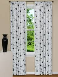 Floral Curtains Modern Floral Curtains In Black And White