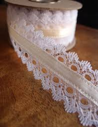 ivory satin ribbon lace with ivory satin ribbon 1 5 width x 9yd ochtersum lace ribbon