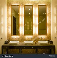 bathroom mirrors with lights behind led light up bathroom mirror lights behind around side australia