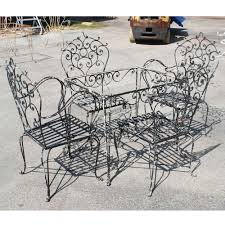 Used Patio Furniture Sets by Furniture Used Wrought Iron Patio Set Granite Pub Style Table