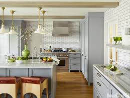 kitchen nice grey stained wooden kitchen cabinet nice white nice grey stained wooden kitchen cabinet nice white subway tile backsplash glossy marble countertop short barstool chrome faucet under nice pendant light