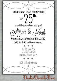 25 year wedding anniversary lovely 25 year wedding anniversary invitations and anniversary