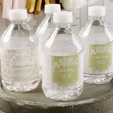 kate aspen personalized water bottle labels rustic baby shower kateaspen