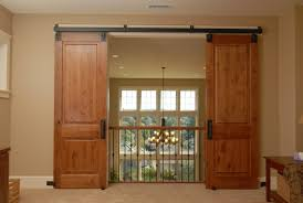 Hanging Interior Doors Single Espresso Barn Wood Sliding Door Hanging At Black