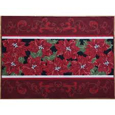 lowes accent rugs shop holiday living christmas rug promotion 52 x 72 rectangular